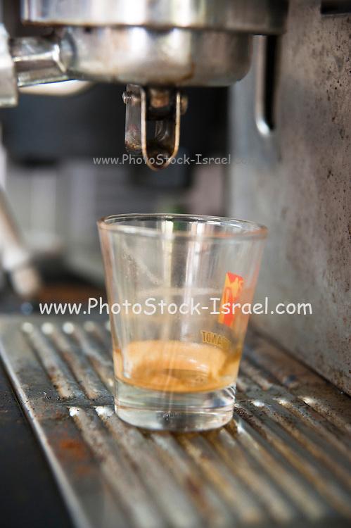 Coffee machine close up