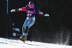 Tomoka Takeuchi (JPN) during parallel slalom FIS Snowboard Alpine World Championships 2021 on March 2nd 2021 on Rogla, Slovenia. Photo by Grega Valancic / Sportida