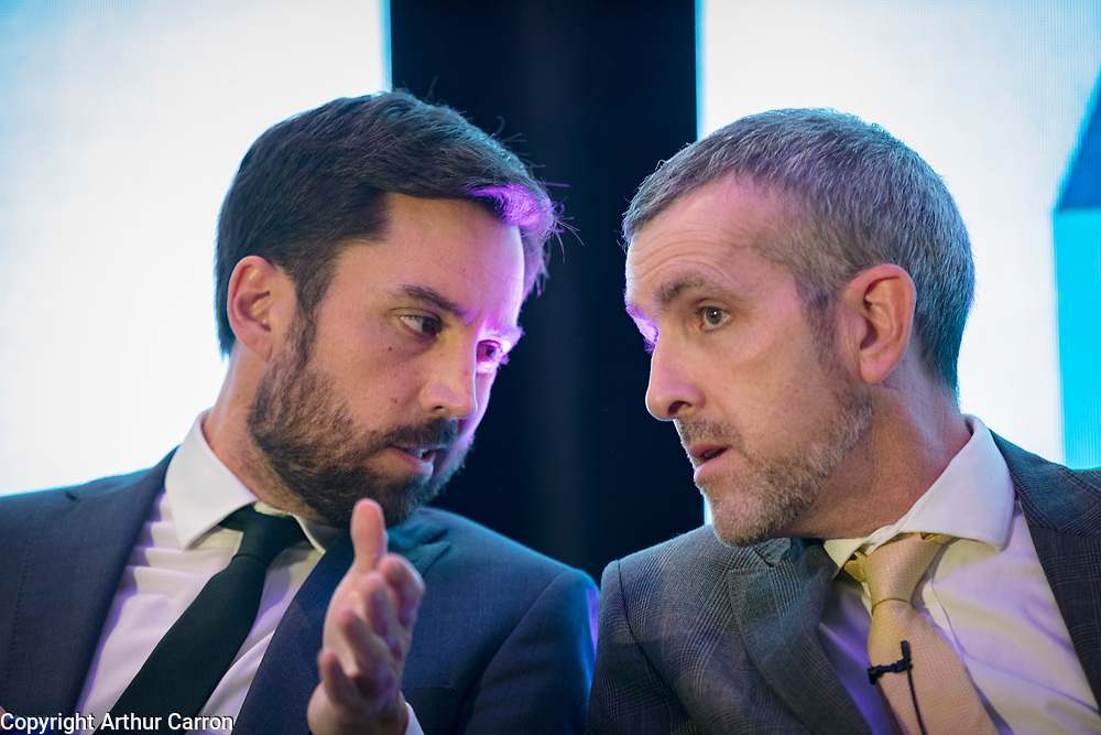 NO FEE PICTURES                                                                                                                                              10/10/19 Minister Eoghan Murphy and Robert Nicholson, Dept Housing, Planning and Local Government at the Irish Council for Social Housing (ICSH) Biennial Finance and Development Conference 2019 at the Clayton Whites Hotel, Wexford 10-11 October. The two-day conference brings together 300 delegates including active housing associations, currently facing the challenge of growing their housing stock and making it more environmentally sustainable. At the event, stakeholders from the public, not-for-profit and private sectors will discuss how collaboration and innovation can develop the sector's capacity to build more sustainable and climate resilient communities.Picture: Arthur Carron