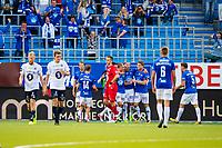 Fotball , 27 August , Norgesmesterskapet, NM Kvartfinale , Cup , Molde - Kristiansund , Martin Skjelbreid Ellingsen sender Molde i ledelsen<br /> <br />  , Foto: Marius Simensen, Digitalsport