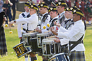 West Point, New York - The United States Corps of Cadets Pipes & Drums perform at the 32nd annual West Point Military Tattoo at the United States Military Academy on April 13, 2014. The United States Corps of Cadets Pipes & Drums is a bagpipe, drum, and dance ensemble.