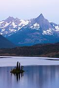 Wild Goose Island on St Mary Lake,Glacier National Park