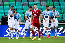 Damjan Bohar of Slovenia with Jasmin Kurtic of Slovenia  during the UEFA Nations League C Group 3 match between Slovenia and Moldova at Stadion Stozice, on September 6th, 2020. Photo by Grega Valancic / Sportida