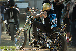 Day one of the Born Free Vintage Chopper and Classic Motorcycle Show at the Oak Canyon Ranch in Silverado, CA. USA. Saturday, June 28, 2014.  Photography ©2014 Michael Lichter.