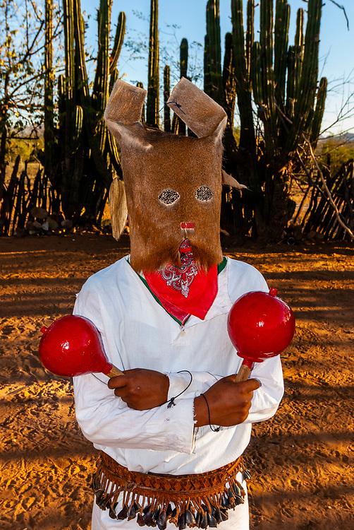 Mayo Indian Pascola dancers, Dance of the Deer, Semana Santa (Holy Week), Capomos (near El Fuerte), Mexico