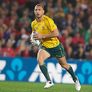 Quade Cooper, Australia, in action during the Australia V Wales Bronze Final match at the IRB Rugby World Cup tournament, Auckland, New Zealand. 21st October 2011. Photo Tim Clayton...