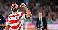 Rugby Union - 2019 Rugby World Cup - Pool A: Japan vs. Scotland<br /> <br /> Michael Leitch of Japan celebrates at full time at International Stadium Yokohama, Kanagawa Prefecture, Yokohama City.<br /> <br /> COLORSPORT/LYNNE CAMERON