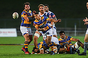 Bay of Plenty's Keepa Mewett clears the ball against Auckland during the Mitre 10 Cup match played at Rotorua International Stadium in Rotorua on Friday 2nd October 2020.<br /> Copyright photo: Alan Gibson / www.photosport.nz