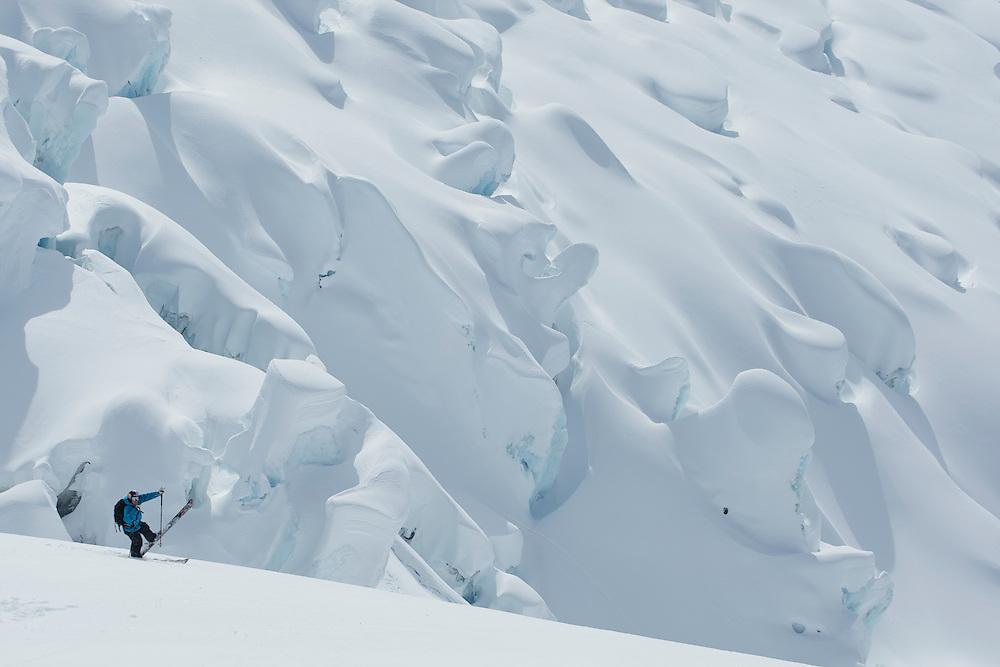 Jono Brauer at Points North Heliskiing in Corova Alaska. MR