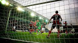 Falkirk's Darren Dods celebrates after scoring their goal.