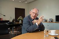23 FEB 2016, BERLIN/GERMANY:<br /> Wolfgang Schaeuble, CDU, Bundesfinanzminister, waehrend einem Interview, in seinem Buero, Bundesministerium der Finanzen<br /> IMAGE: 20160223-01-020<br /> KEYWORDS: Wolfgang Schäuble