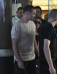 Katie Price and Kieran Hayler look shaken up as they are escorted to safety by the GAY nightclub security following the London Bridge terror attacks tonight. Katie was forced to cancel her gig at GAY nightclub due to the events and security risk. <br /><br />4 June 2017.<br /><br />Please byline: Craig/Will/Vantagenews.com