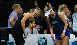 November 10, 2018 - Prague, Czech Republic - Danielle Collins & Alison Riske of the United States at the 2018 Fed Cup Final between the Czech Republic and the United States of America (Credit Image: © AFP7 via ZUMA Wire)