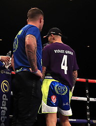Martin Murray wears a tribute to four year old Violet Grace prior to his WBA Inter-Continental Middleweight Title with Gabriel Rosado at Liverpool Echo Arena.