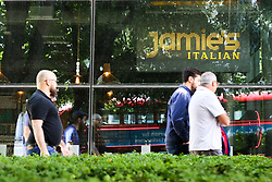 © Licensed to London News Pictures. 21/05/2019. London, UK. People walk past Jamie's Italian in Islington, north London as Jamie Oliver's chain restaurants goes into administration leaving more than 1,000 jobs at risk. Photo credit: Dinendra Haria/LNP