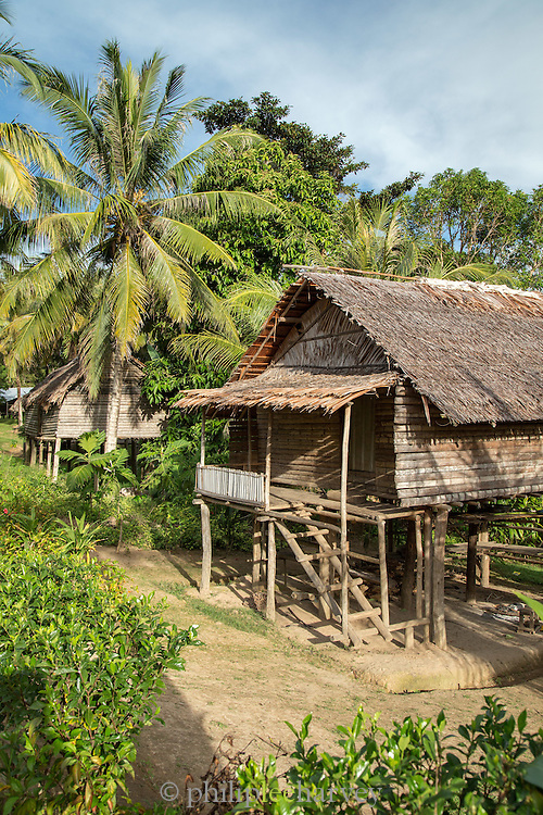 Wooden hut, Togum Village, Lake Murray, Middle Fly District, Western Province, Papua New Guinea