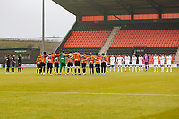 Football - 2020 / 2021 Emirates FA Cup - Round 2 - Barnet vs Milton Keynes Dons - The Hive<br /> <br /> Both teams observe a minutes silence in memory of Diego Maradona before kick off <br /> <br /> COLORSPORT/DANIEL BEARHAM