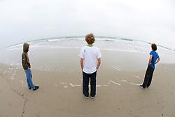 Spencer Blattel, Joe Marcus & Ian Simon, Looking Out At The Ocean On Santa Monica Beach