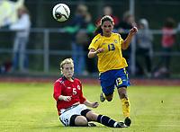Fotball<br /> Landskamp J15/16 år<br /> Tidenes første landskamp for dette alderstrinnet<br /> Sverige v Norge 1-3<br /> Steungsund<br /> 11.10.2006<br /> Foto: Anders Hoven, Digitalsport<br /> <br /> Eirin Bjerkreim Kleppa - Frøyland / Norge<br /> Lisa Klinga - Sverige