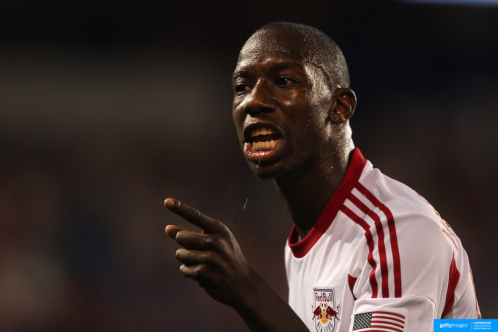 Bradley Wright-Phillips, New York Red Bulls, during the New York Red Bulls Vs San Jose Earthquakes, Major League Soccer regular season match at Red Bull Arena, Harrison, New Jersey. USA. 19th July 2014. Photo Tim Clayton