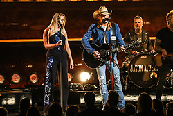 52nd Annual Country Music Association Awards hosted by Carrie Underwood and Brad Paisley and held at the Bridgestone Arena on November 14, 2018, in Nashville, TN. © Curtis Hilbun / AFF-USA.com. 14 Nov 2018 Pictured: Miranda Lambert and Jason Aldean. Photo credit: Curtis Hilbun / AFF-USA.com / MEGA TheMegaAgency.com +1 888 505 6342