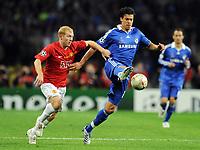 v.l. Paul Scholes ManU , Michael Ballack Chelsea<br /> Champions League Finale Manchester United FC - FC Chelsea <br /> <br /> Norway onlu