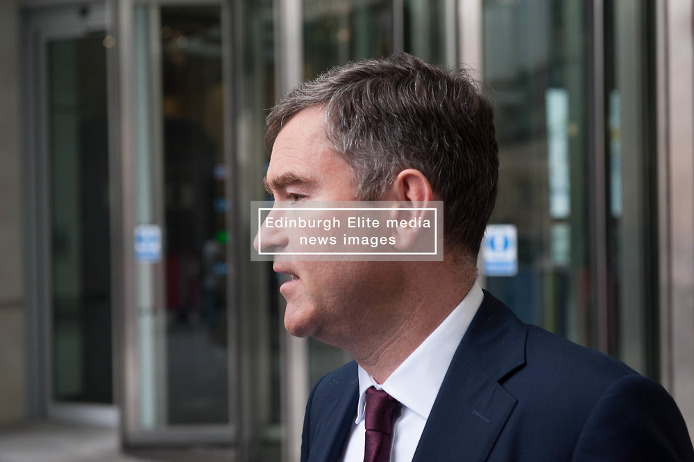 David Gauke, Member of Parliament for South West Hertfordshire, Lord Chancellor and Secretary of State for Justice leaves the BBC after appearing on the Andrew Marr show. <br /> <br /> Richard Hancox   EEm 07072019