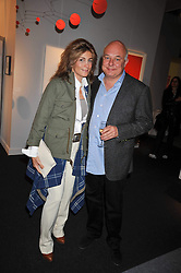 ROLF & MARYAM SACHS at the Moet Hennessy Pavilion of Art & Design London Prize 2009 held in Berkeley Square, London on 12th October 2009.