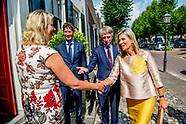 Koningin Maxima tijdens een bezoek aan Stichting Buurtgezinnen.nl.