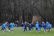 A general view during training .  the Cardiff city football team training at the Vale, Hensol near Cardiff ahead of their Carling cup final match against Liverpool on Thursday 23rd Feb 2012.  pic by Andrew Orchard, Andrew Orchard sports photography, .