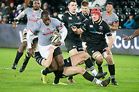 Rugby Union - 2017 / 2018 Guinness Pro14 - Ospreys vs. Southern Kings<br /> <br />  M Makase of Southern Kings breaks, at the Liberty Stadium.<br /> <br /> COLORSPORT/WINSTON BYNORTH