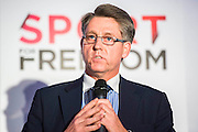 Kevin Hyland OBE, UK Anti Slavery Commisioner - UK charity, Sport for Freedom (SFF), marks Anti-Slavery Day 2015 by hosting a charity Gala Dinner, supported by Aston Martin, on Thursday 15th October at Stamford Bridge, home of Chelsea Football Club. This inaugural event brought together people from the world of sport, entertainment, media, and business to unite behind a promise to tackle the issue of modern day human trafficking and slavery.  <br /> Hosted by Sky presenters Sarah-Jane Mee and Jim White, the Sport for Freedom Gala Dinner includes guests such as jockey AP McCoy OBE; Denise Lewis, former British Olympic Gold Medal winner; BBC Strictly star, Brendan Cole; Al Bangura, former Watford FC player and Sport for Freedom Ambassador who was trafficked from Africa to the UK at the age of just 14yrs old; Made in Chelsea star, Ollie Proudlock; ITV weather presenter, Lucy Verasamy; Sky Sports F1 presenter and SFF Ambassador, Natalie Pinkham; Premier League footballers Ryan Bertrand of Southampton FC and Troy Deeney of Watford FC and champion boxer, Anthony Joshua; and The UK's first independent Anti Slavery Commissioner, Kevin Hyland OBE, who highlighted the issues of modern day slavery that face the UK and world today. <br /> The evening concluded with chart topping music from 'Naughty Boy'. <br /> Sport for Freedom are also joining forces with the Premier League Academies for an international  'Football for Freedom' tournament with their U16's players that will also involve educating those taking part about the issues surrounding modern day slavery. The final will take place at Liverpool FC's Academy on Anti-Slavery Day, 18th October.