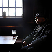 Traditional pubs are dying according to new figures. A drinker sits in a quiet corner of The Clutha Vaults in Glasgow. On the Broomielaw by the Clyde the Cluths is one of the oldest pubs in Glasgow.      Robert Perry Scotland on Sunday 5th March 2009