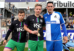 The Bristol City Man of the Match in the Bristol Fan Derby is presented with a trophy - Mandatory by-line: Robbie Stephenson/JMP - 04/09/2016 - FOOTBALL - Memorial Stadium - Bristol, England - Bristol Rovers Fans v Bristol City Fans - Bristol Fan Derby