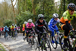 Jelena Eric on the cobbled climb at Le Samyn des Dames 2018 - a 103 km road race on February 27, 2018, from Quaregnon to Dour, Belgium. (Photo by Sean Robinson/Velofocus.com)