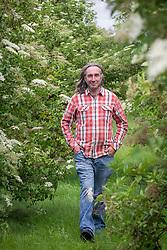Ed Brown amongst his field of Sambucus - elders