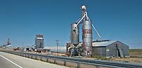 grain elevators in rural west Texas along I-20 rust in the hot Texas sun