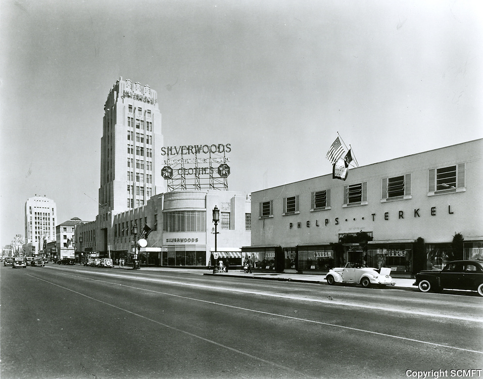 1945 Phelps Terkel on Wilshire Blvd., also known as the Miracle Mile