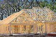New house construction using timber framing on 28th February 2020 in Breaux Bridge, Louisianna, United States.