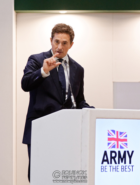 London, United Kingdom - 12 September 2019<br /> Johnny Mercer MP, Parliamentary Under-Secretary of State for Defence People and Veterans for the UK Government gives a keynote address speech and answers questions from the audience at DSEI 2019 security, defence and arms fair at ExCeL London exhibition centre.<br /> (photo by: EQUINOXFEATURES.COM)<br /> Picture Data:<br /> Photographer: Equinox Features<br /> Copyright: ©2019 Equinox Licensing Ltd. +443700 780000<br /> Contact: Equinox Features<br /> Date Taken: 20190912<br /> Time Taken: 10195901<br /> www.newspics.com