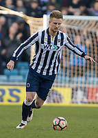 Football - 2016 / 2017 FA Cup - Fifth Round: Millwall vs. Leicester City <br /> <br /> Byron Webster of Millwall at The Den<br /> <br /> COLORSPORT/DANIEL BEARHAM