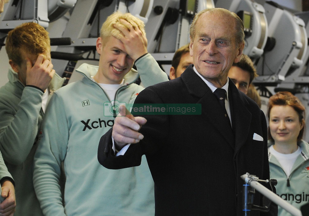 File photo dated 12/02/09 of The Duke of Edinburgh joking with the Cambridge University rowing team at the launch of the boat they would man in the 2009 University Boat Race. The Duke of Edinburgh was perhaps best known for his gaffes. He shocked and sometimes delighted the public with his outspoken remarks and clangers. Issue date: Friday April 4, 2021.