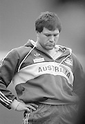 Twickenham. Great Britain.  <br /> <br /> 15.20.1988. London And South East Division vs Australia The Old Twickenham Stadium [The start of the new Stadium started soon after this game]<br />  <br /> <br /> [Mandatory Credit, Peter Spurrier/ Intersport Images].