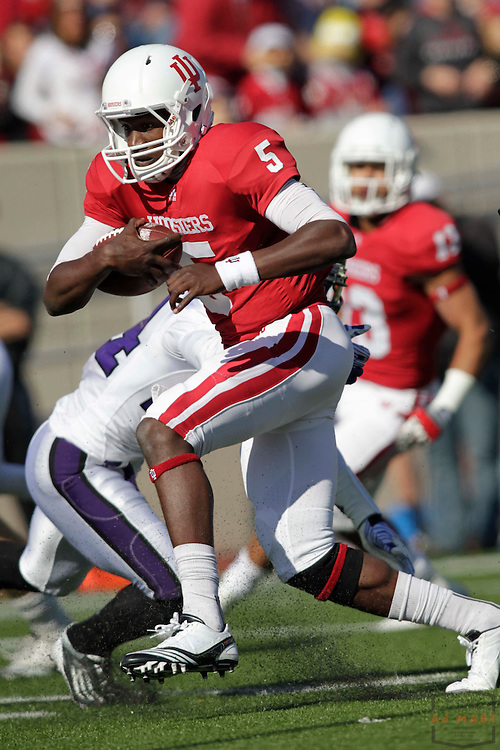 29 October 2011: Indiana Hoosiers quarterback Tre Roberson (5) as the Northwestern Wildcats played the Indiana Hoosiers in a college football game in Bloomington, Ind.