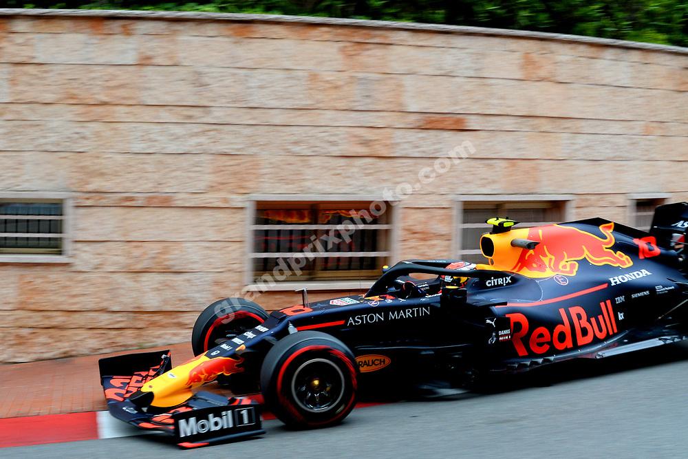 Pierre Gasly (Red Bull-Honda) during practice before the 2019 Monaco Grand Prix. Photo: Grand Prix Photo