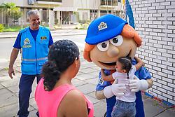 Porto Alegre, RS - 17/02/2020: Ação educativa com foco em segurança no trânsito marca volta às aulas na Escola Municipal Especial de Ensino Fundamental Professor Elyseu Paglioli. Foto: Jefferson Bernardes/PMPA