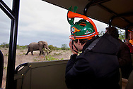 Dutch supporters on safari during the world cup soccer in South Africa.<br /> Nederlandse supporter op safari tijdens het WK Voetbal in Zuid-Afrika
