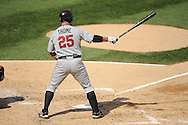 CHICAGO - JULY 09:  Jim Thome #25 of the Minnesota Twins bats against the Chicago White Sox on July 9, 2011 at U.S. Cellular Field in Chicago, Illinois.  The White Sox defeated the Twins 4-3.  (Photo by Ron Vesely)  Subject: Jim Thome