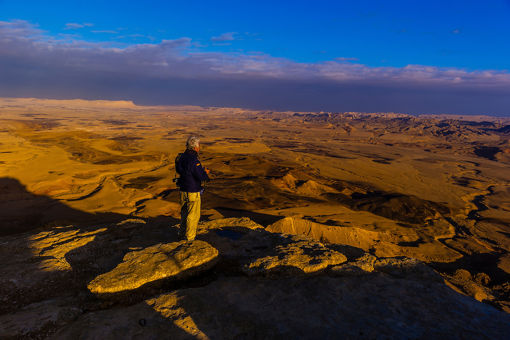 View from Mitzpe Ramon to the Negev Desert, Israel.