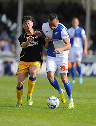 Bristol Rovers' Kaid Mohamed battles for the ball - Photo mandatory by-line: Joe Meredith/JMP - Mobile: 07966 386802 03/05/2014 - SPORT - FOOTBALL - Bristol - Memorial Stadium - Bristol Rovers v Mansfield - Sky Bet League Two